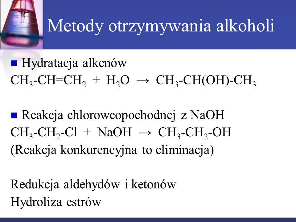 Metody otrzymywania alkoholi