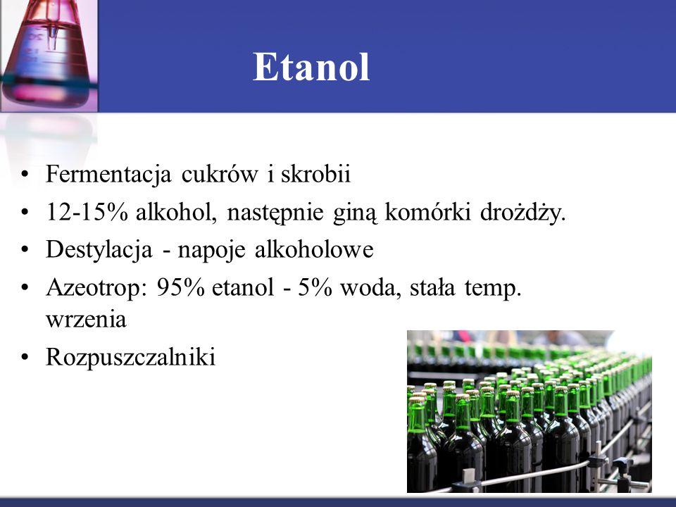 Etanol Fermentacja cukrów i skrobii