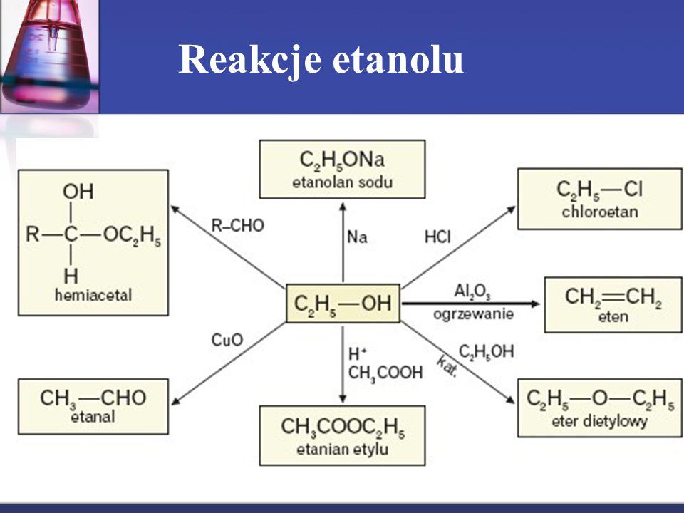 Reakcje etanolu