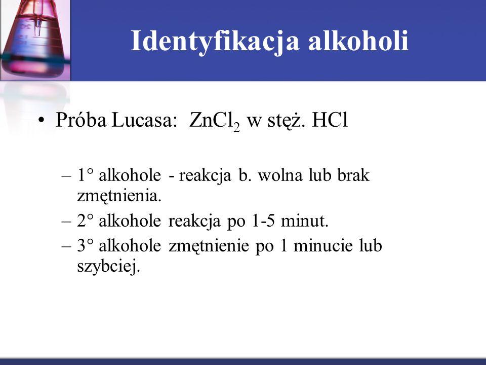 Identyfikacja alkoholi