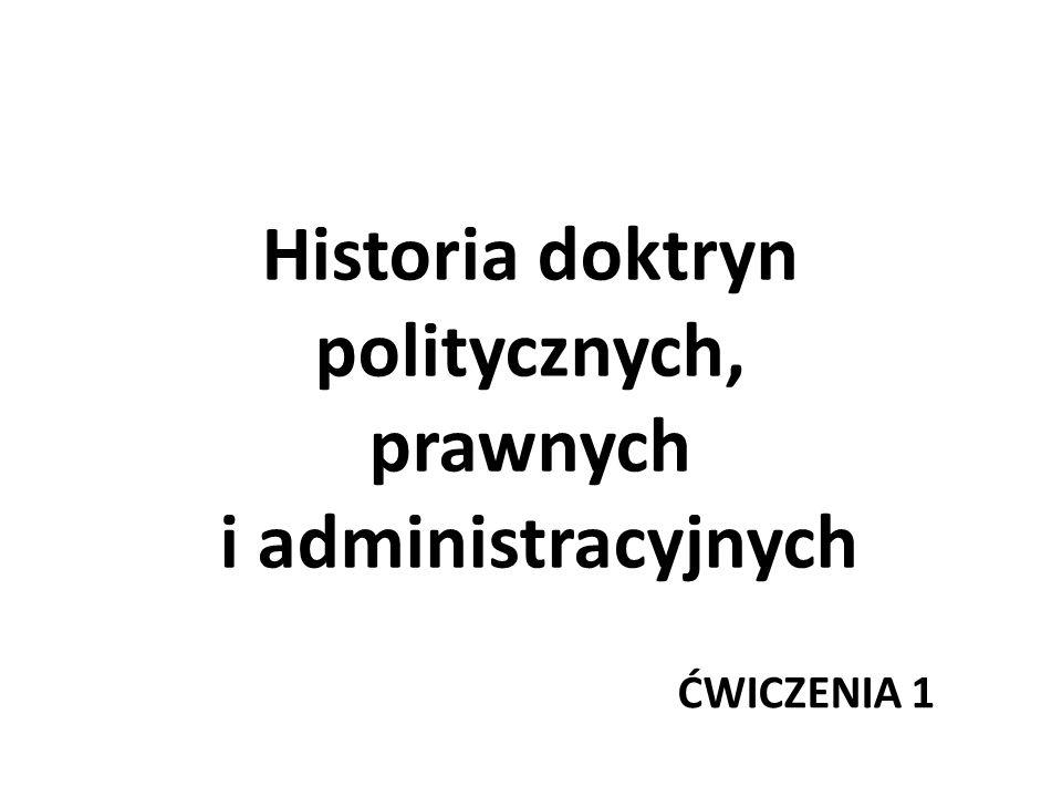 Historia doktryn politycznych, prawnych