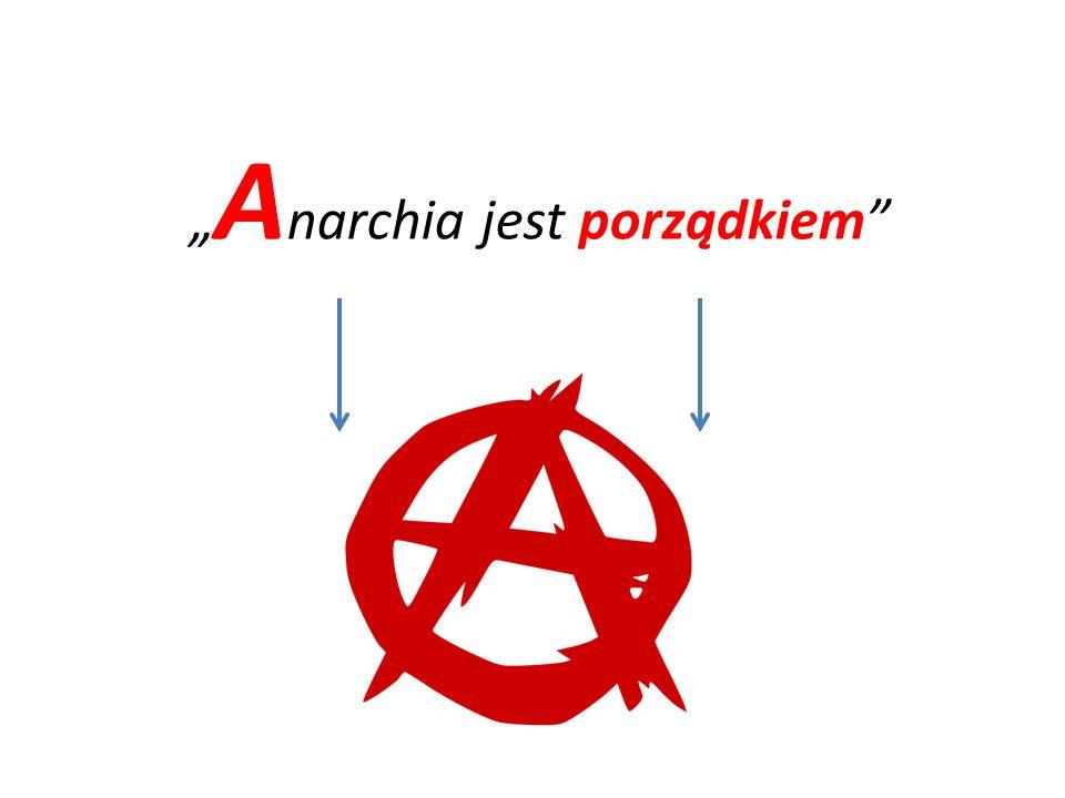"""""""Anarchia jest porządkiem"""