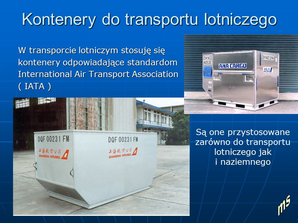 Kontenery do transportu lotniczego