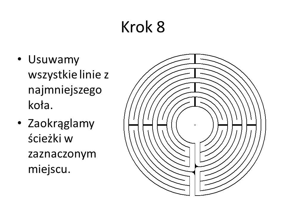 Krok 8 Usuwamy wszystkie linie z najmniejszego koła.