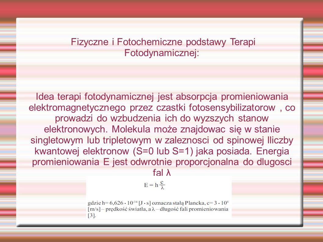 Fizyczne i Fotochemiczne podstawy Terapi Fotodynamicznej: