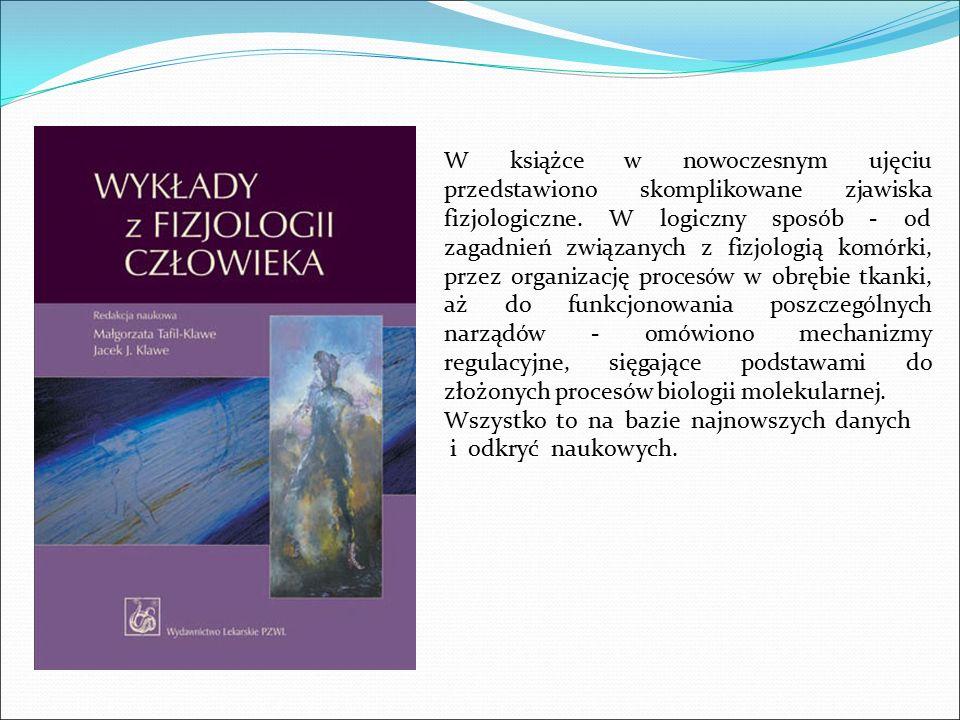 W książce w nowoczesnym ujęciu przedstawiono skomplikowane zjawiska fizjologiczne. W logiczny sposób - od zagadnień związanych z fizjologią komórki, przez organizację procesów w obrębie tkanki, aż do funkcjonowania poszczególnych narządów - omówiono mechanizmy regulacyjne, sięgające podstawami do złożonych procesów biologii molekularnej.