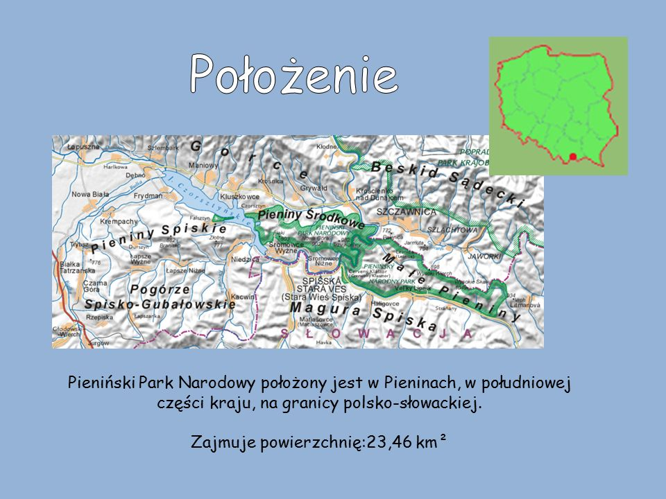 Zajmuje powierzchnię:23,46 km²