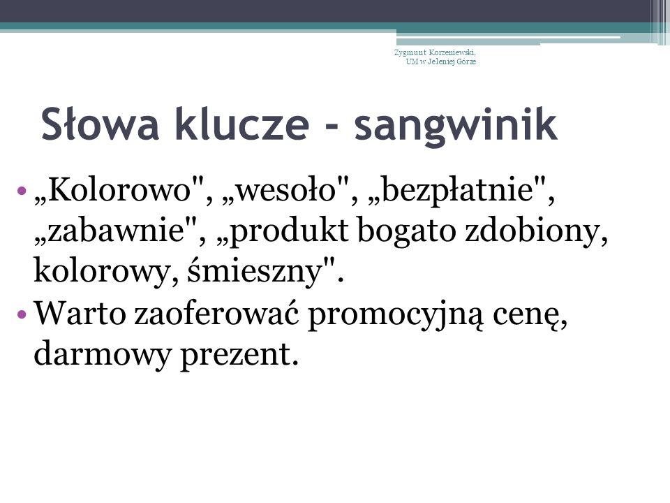 Słowa klucze - sangwinik
