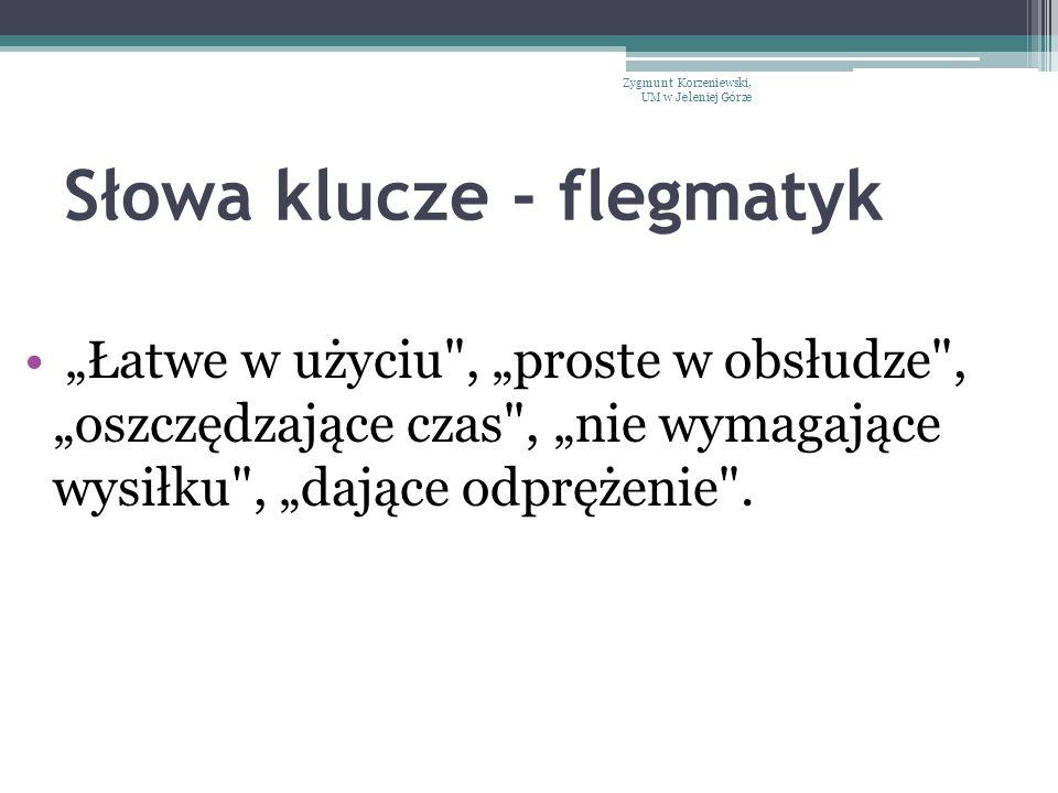 Słowa klucze - flegmatyk