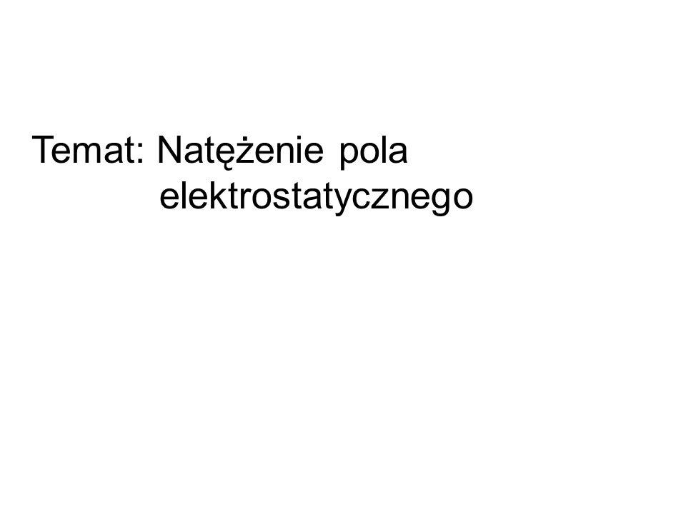 Temat: Natężenie pola elektrostatycznego