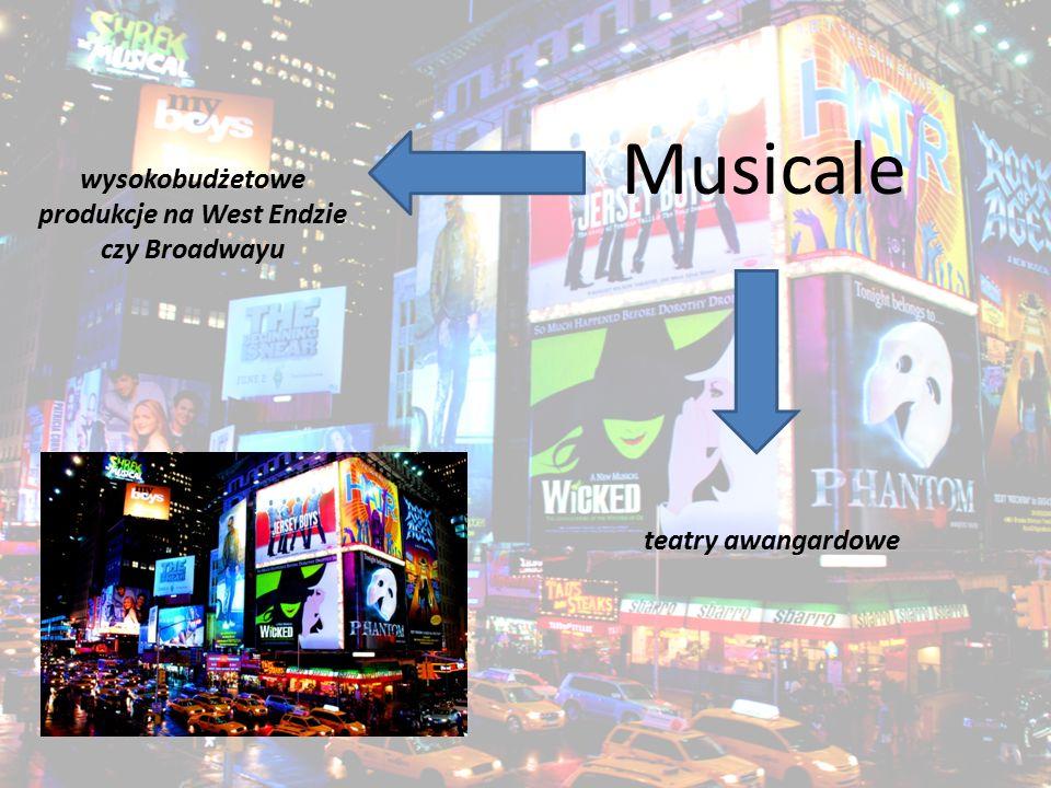 wysokobudżetowe produkcje na West Endzie czy Broadwayu