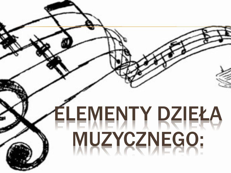 Elementy dzieła muzycznego: