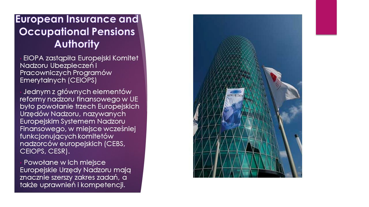 European Insurance and Occupational Pensions Authority