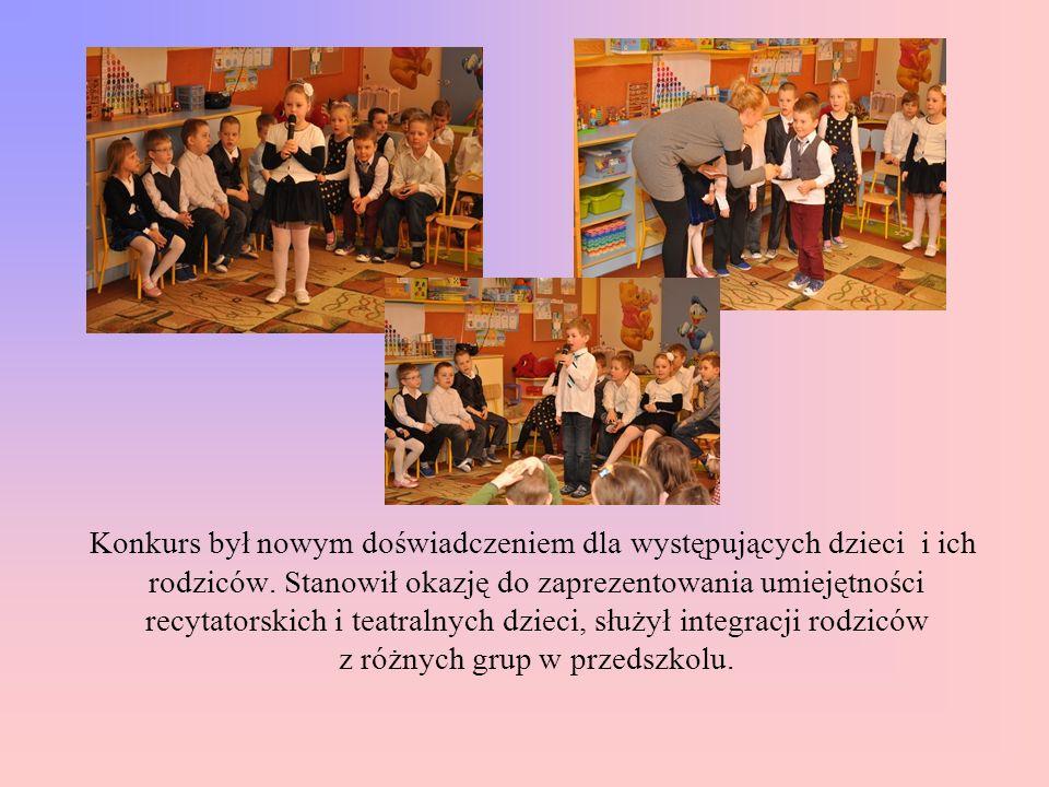 Konkurs był nowym doświadczeniem dla występujących dzieci i ich rodziców.