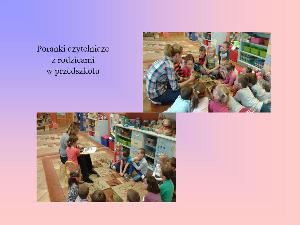 Poranki czytelnicze z rodzicami w przedszkolu