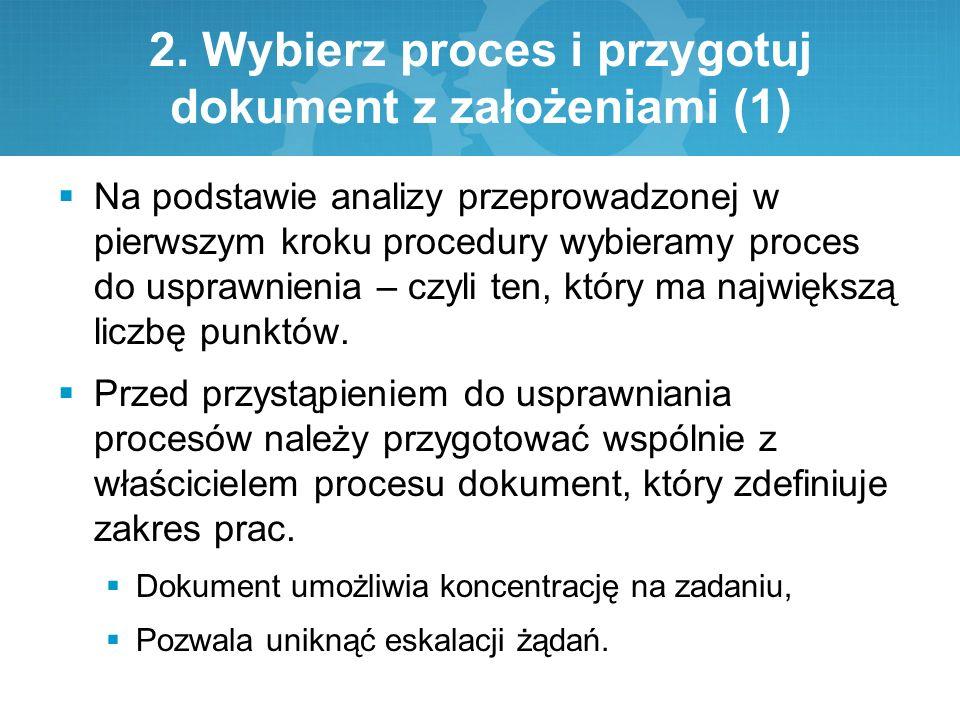 2. Wybierz proces i przygotuj dokument z założeniami (1)