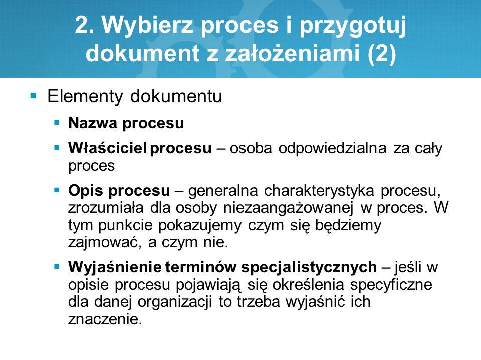 2. Wybierz proces i przygotuj dokument z założeniami (2)