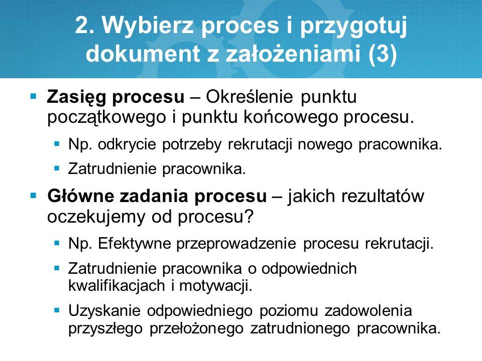 2. Wybierz proces i przygotuj dokument z założeniami (3)