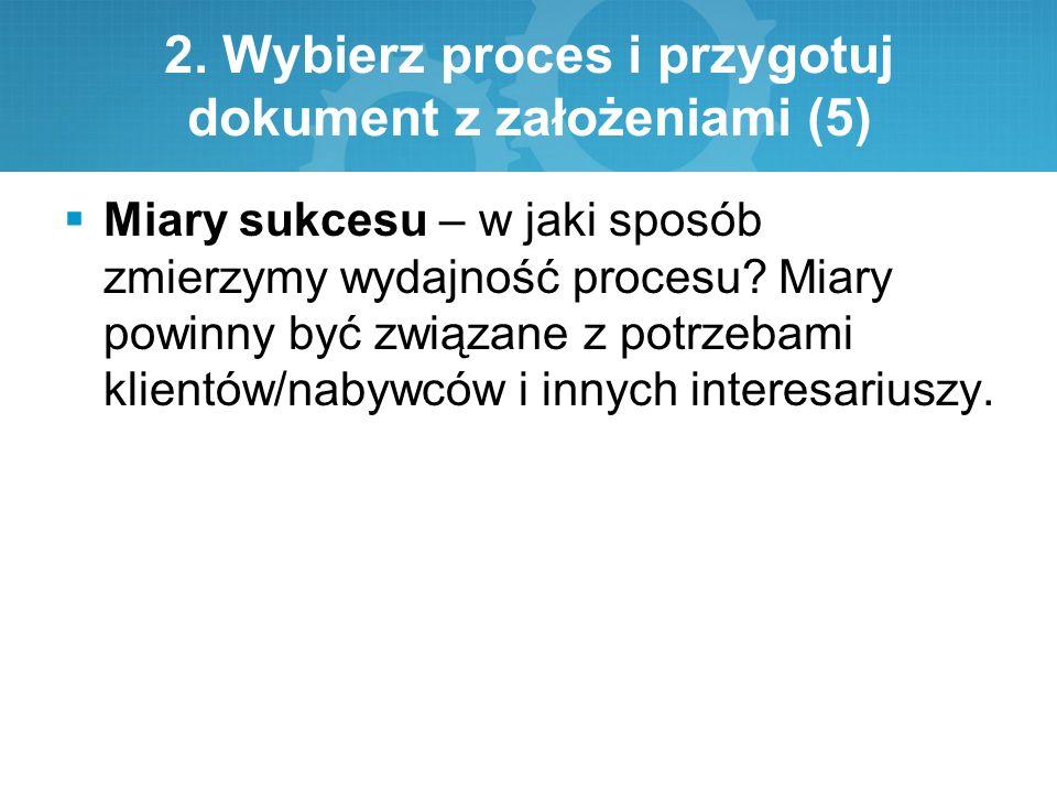 2. Wybierz proces i przygotuj dokument z założeniami (5)