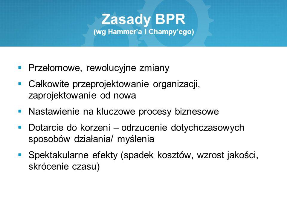 Zasady BPR (wg Hammer'a i Champy'ego)