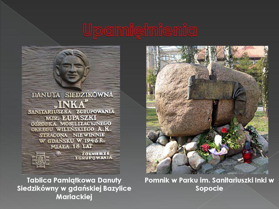 Upamiętnienia Tablica Pamiątkowa Danuty Siedzikówny w gdańskiej Bazylice Mariackiej.