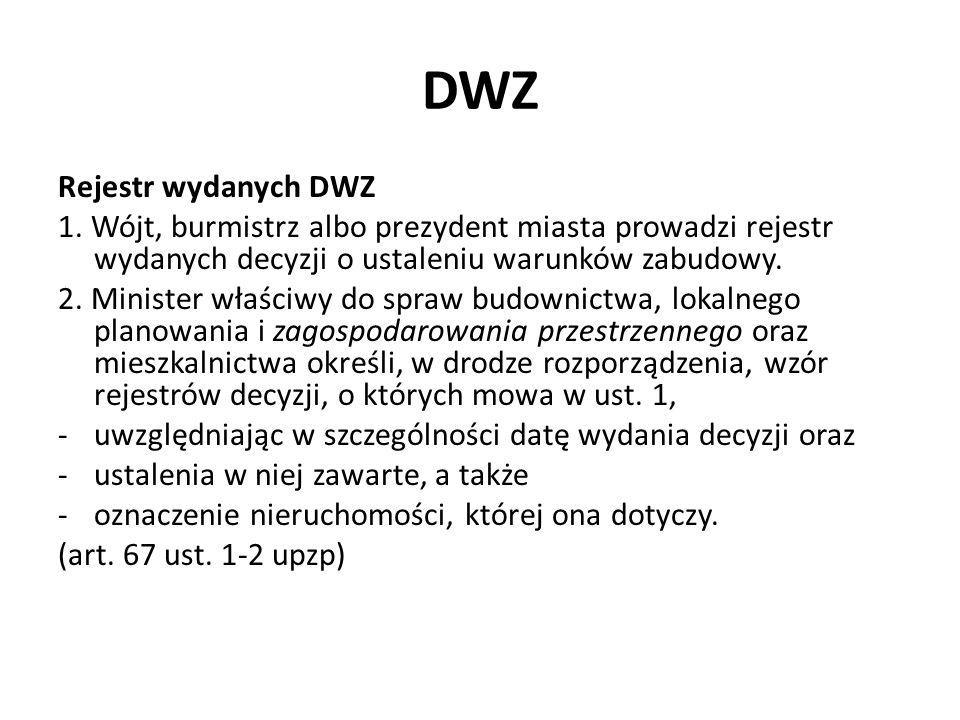 DWZ Rejestr wydanych DWZ