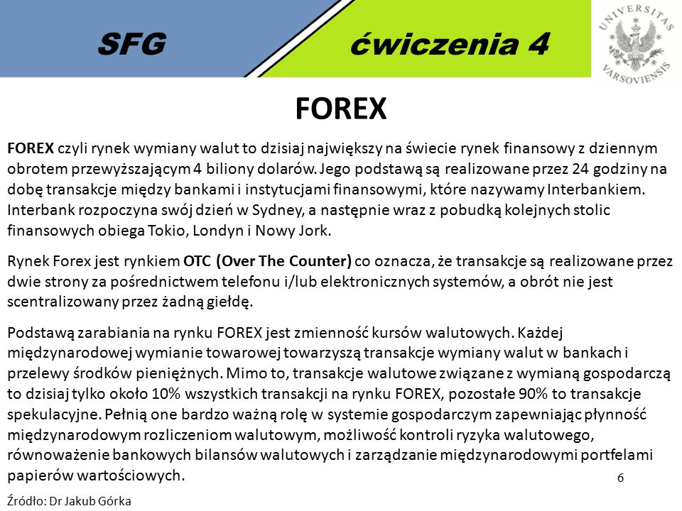 SFG ćwiczenia 4 FOREX.