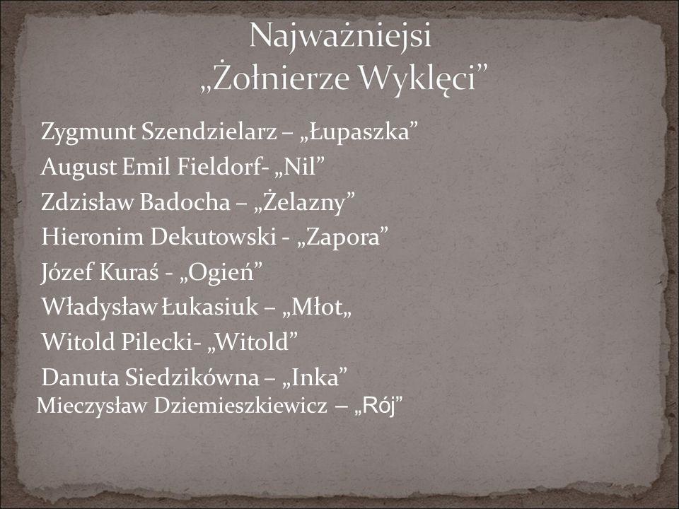 """Zygmunt Szendzielarz – """"Łupaszka August Emil Fieldorf- """"Nil"""