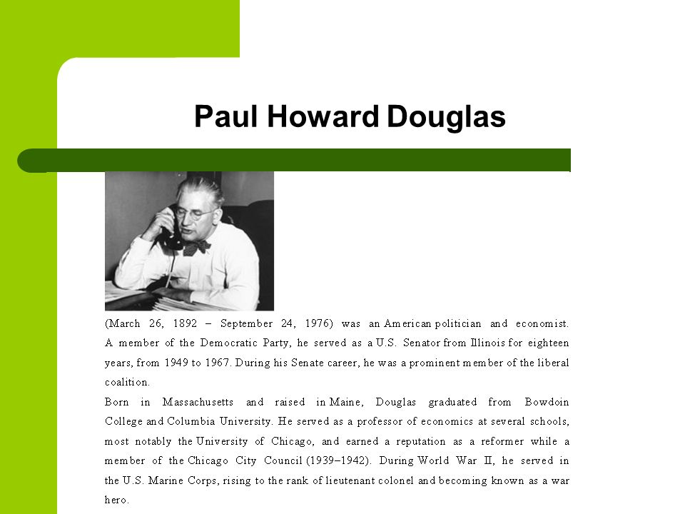 Paul Howard Douglas