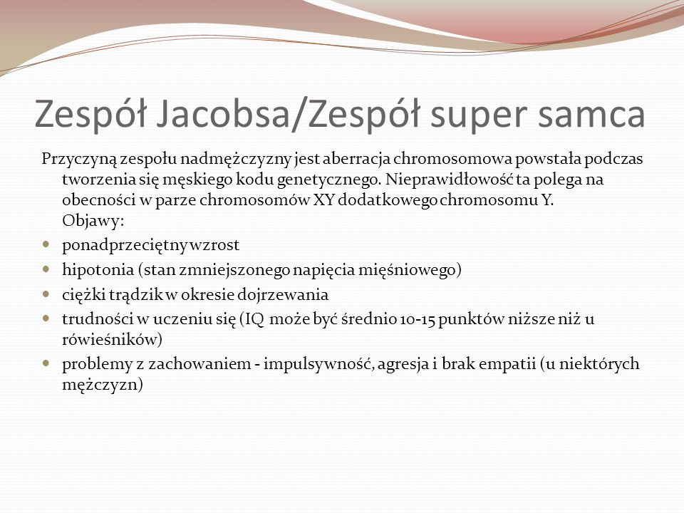 Zespół Jacobsa/Zespół super samca