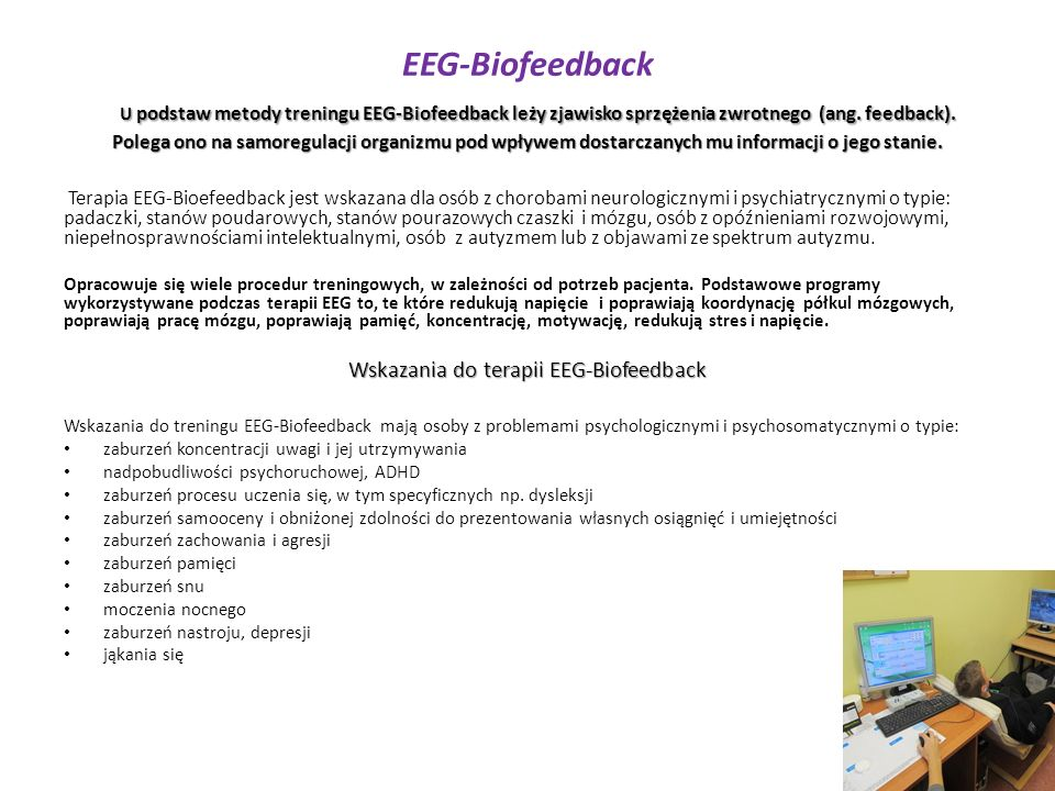 Wskazania do terapii EEG-Biofeedback