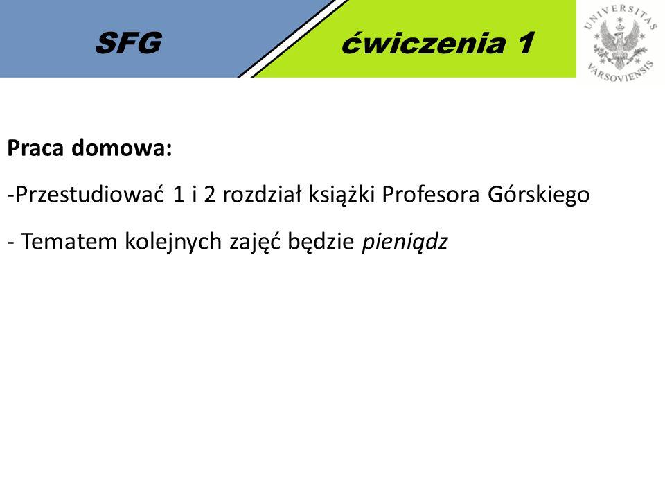 SFG ćwiczenia 1 Praca domowa: