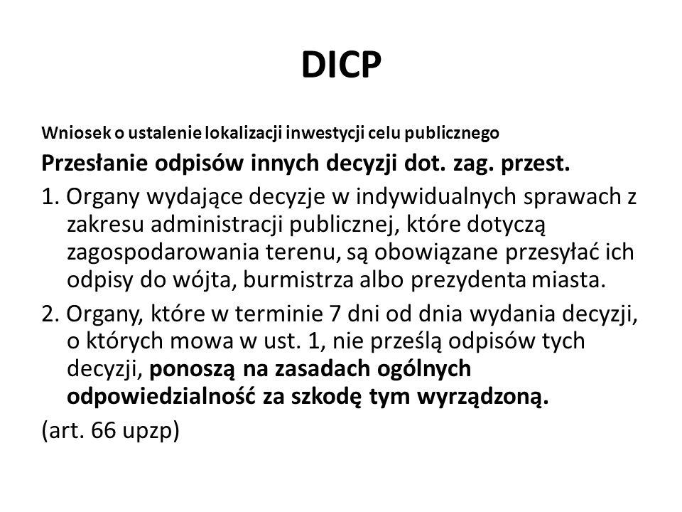 DICP Przesłanie odpisów innych decyzji dot. zag. przest.