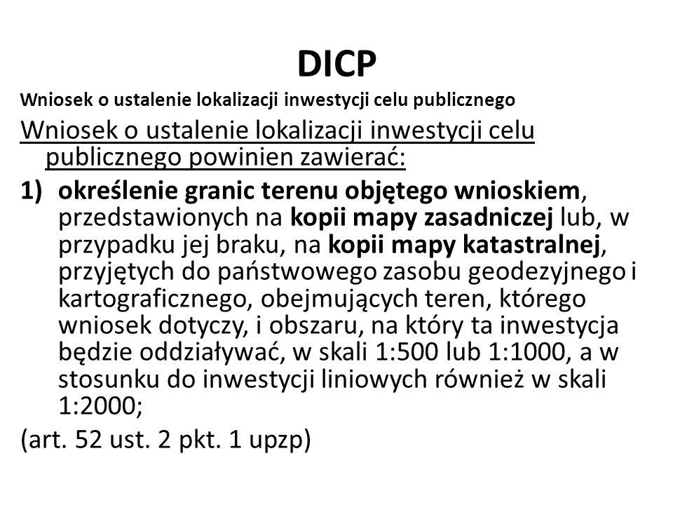 DICP Wniosek o ustalenie lokalizacji inwestycji celu publicznego. Wniosek o ustalenie lokalizacji inwestycji celu publicznego powinien zawierać: