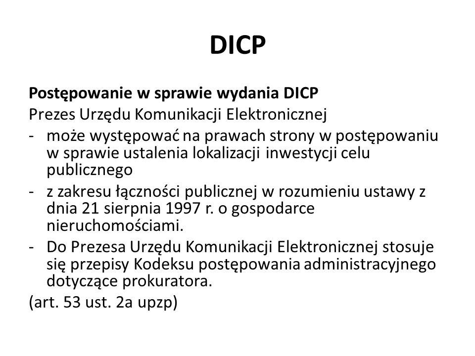 DICP Postępowanie w sprawie wydania DICP