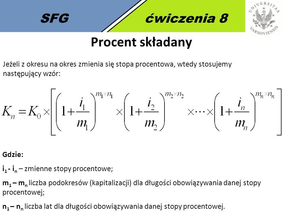 Procent składany SFG ćwiczenia 8