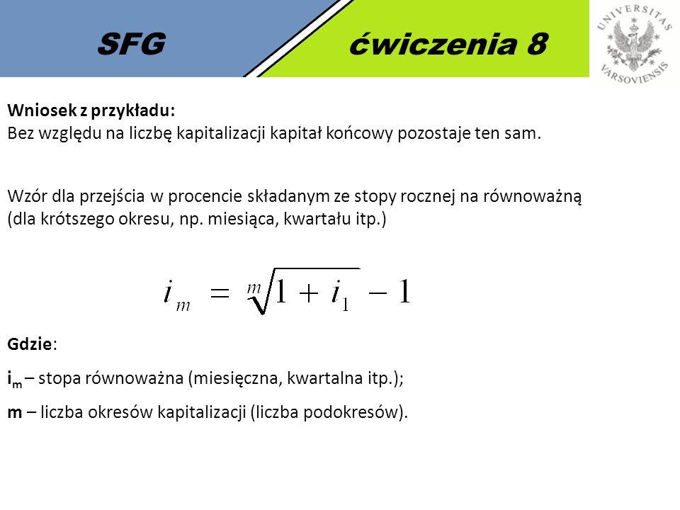 SFG ćwiczenia 8 Wniosek z przykładu: