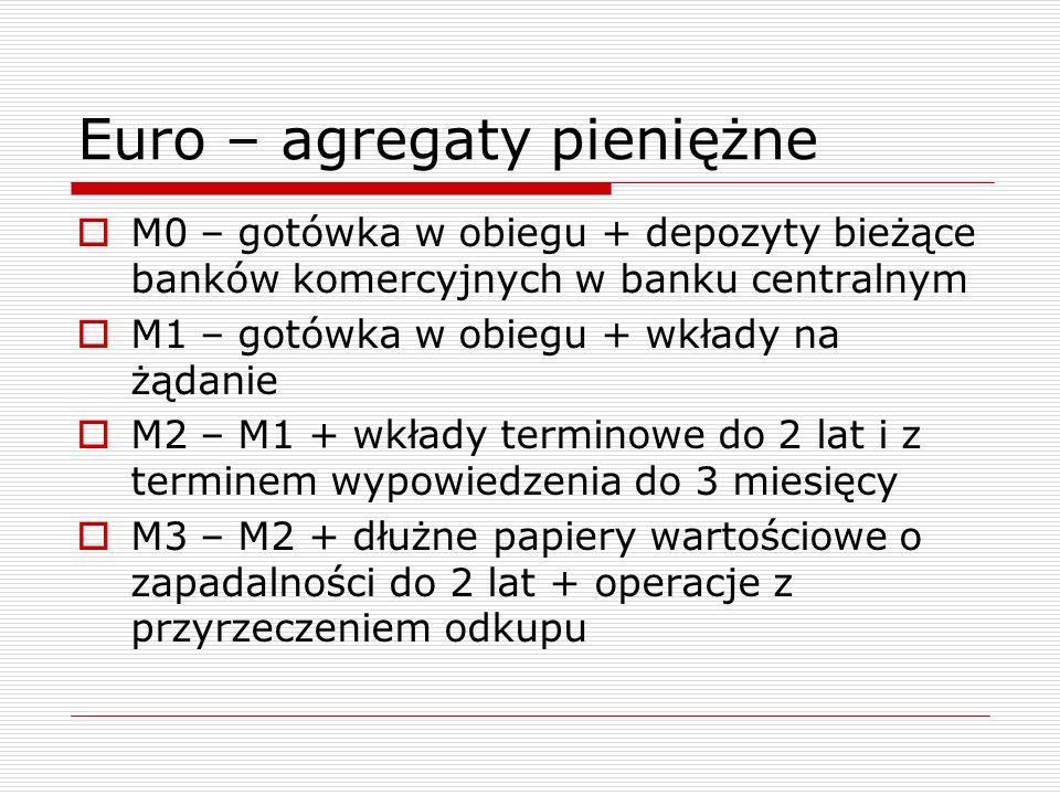 Euro – agregaty pieniężne