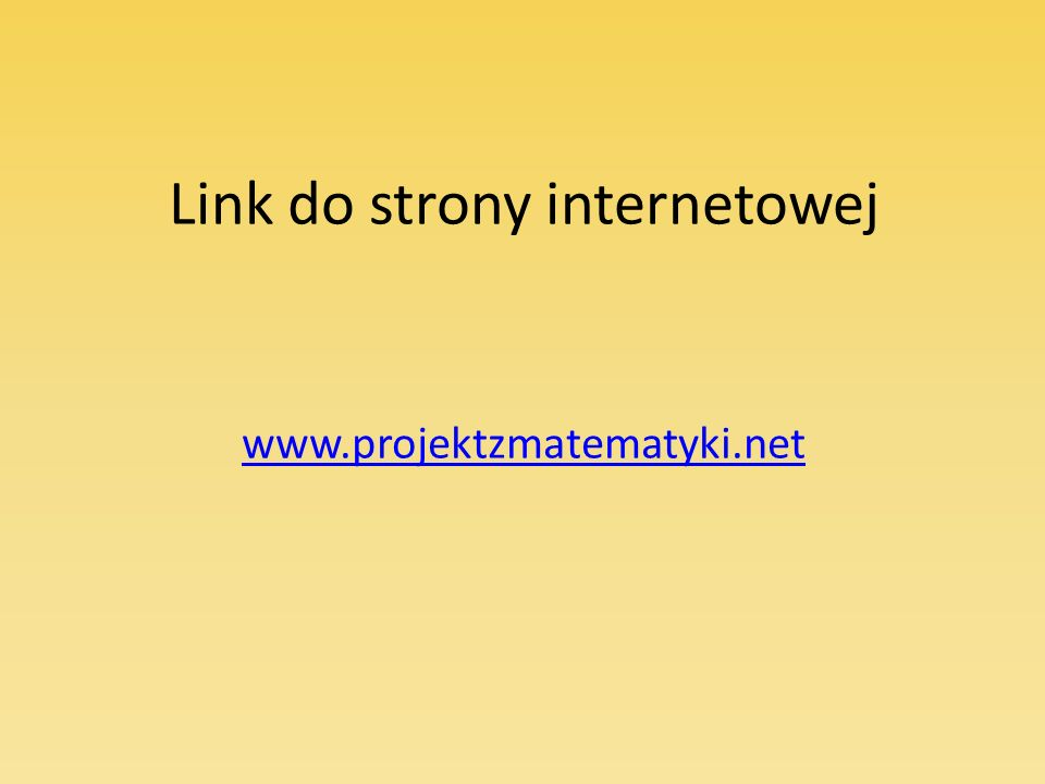 Link do strony internetowej