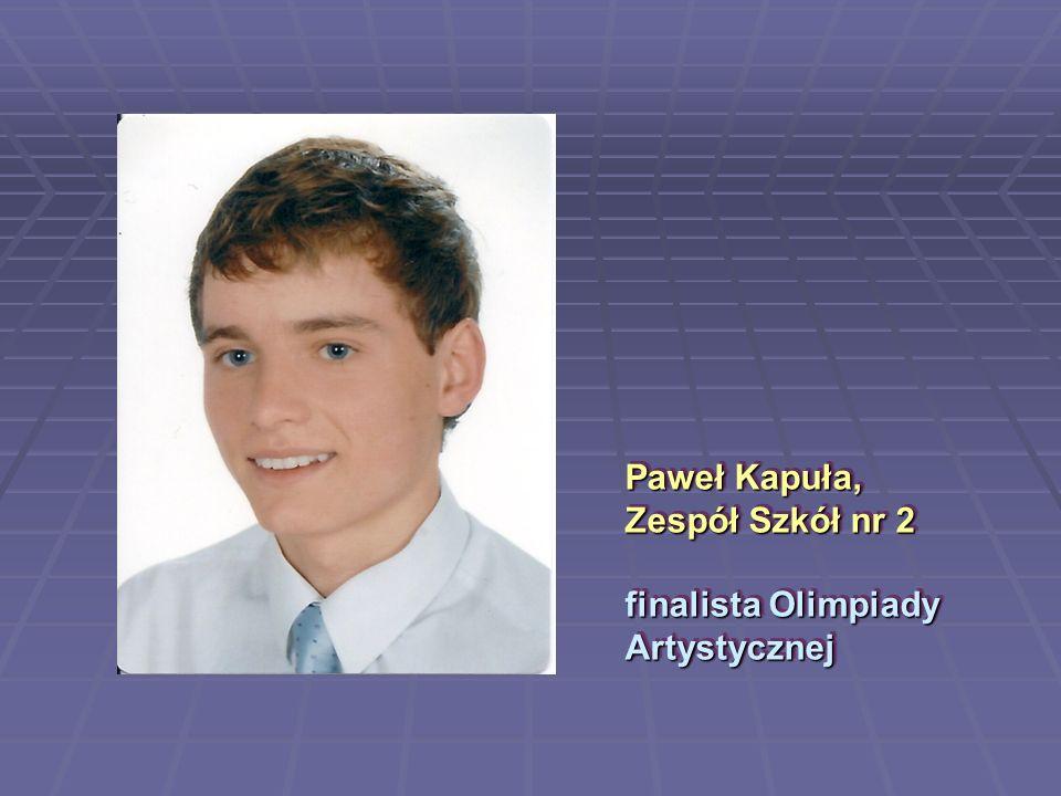 Paweł Kapuła, Zespół Szkół nr 2 finalista Olimpiady Artystycznej