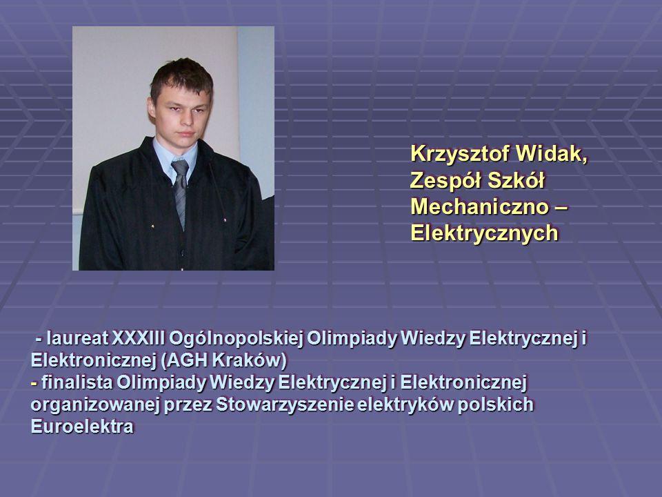Krzysztof Widak, Zespół Szkół Mechaniczno – Elektrycznych