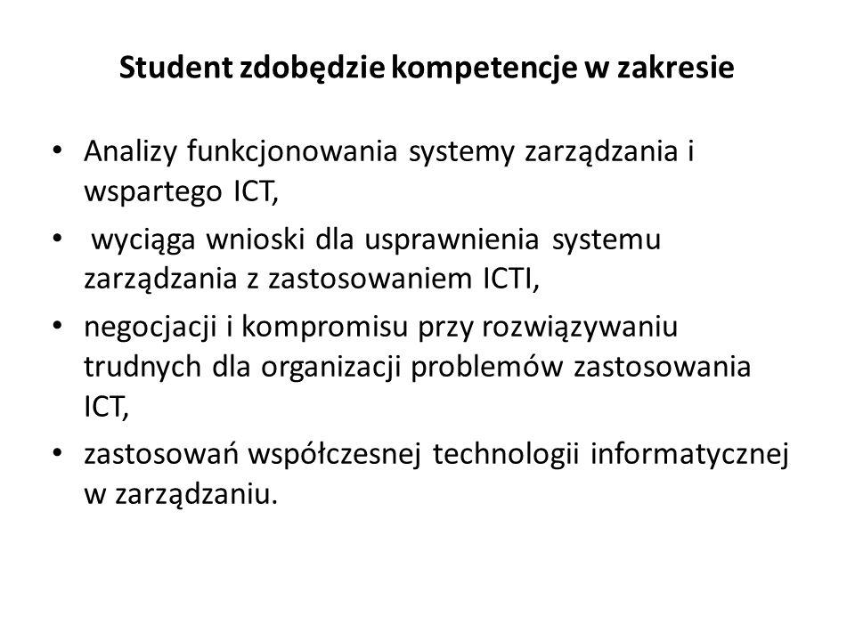 Student zdobędzie kompetencje w zakresie