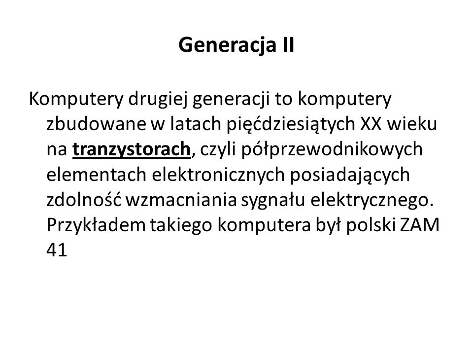 Generacja II