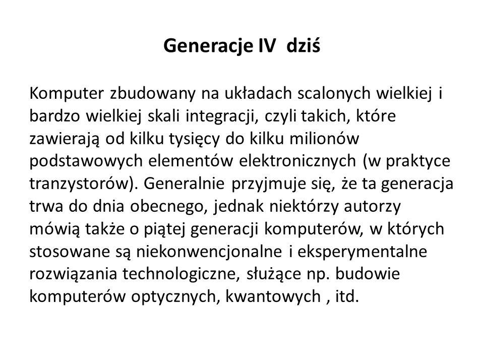 Generacje IV dziś