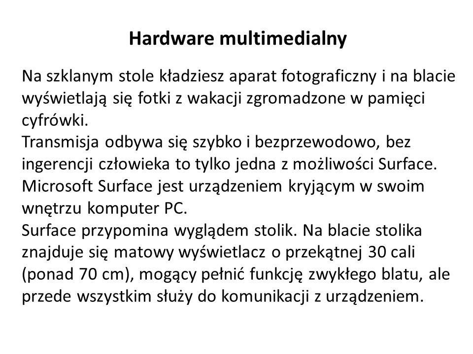 Hardware multimedialny