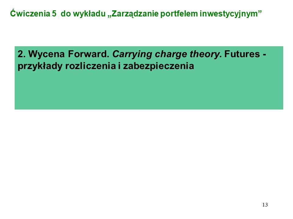 """Ćwiczenia 5 do wykładu """"Zarządzanie portfelem inwestycyjnym"""