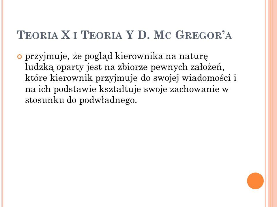 Teoria X i Teoria Y D. Mc Gregor'a