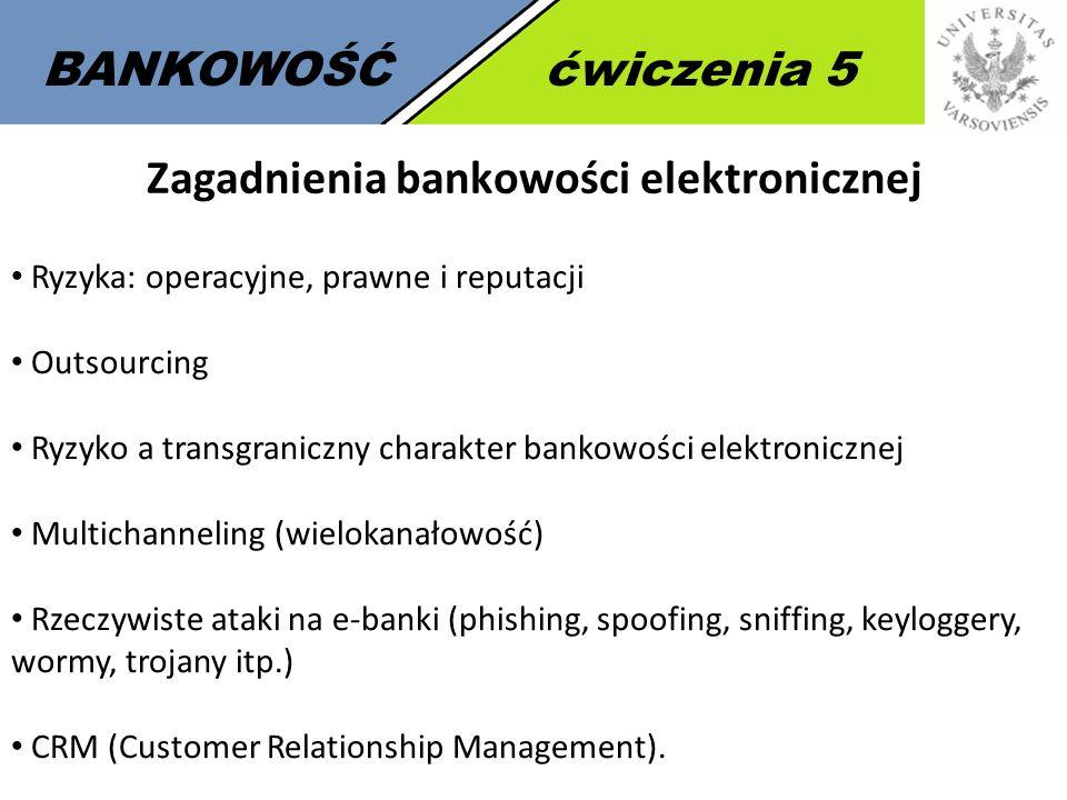 Zagadnienia bankowości elektronicznej