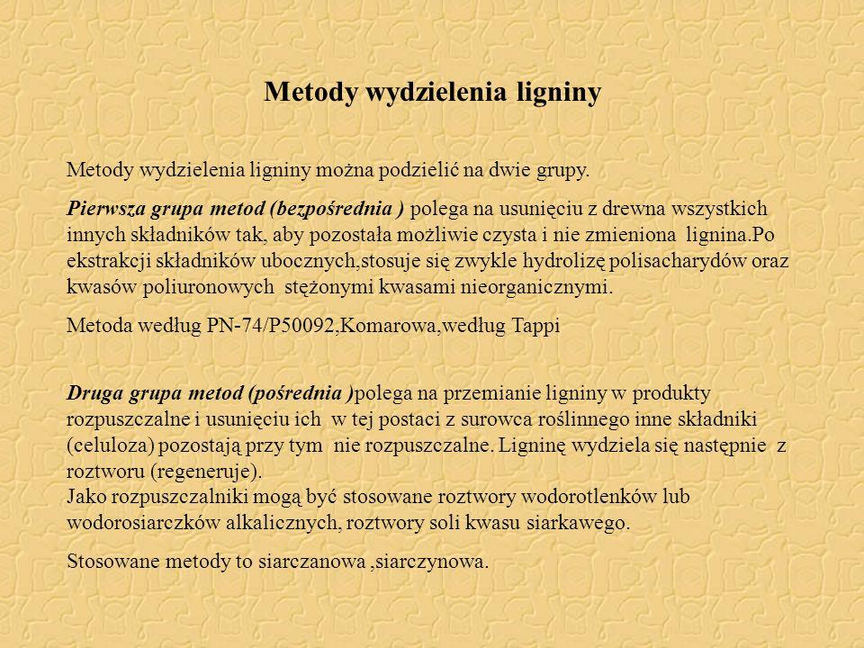 Metody wydzielenia ligniny