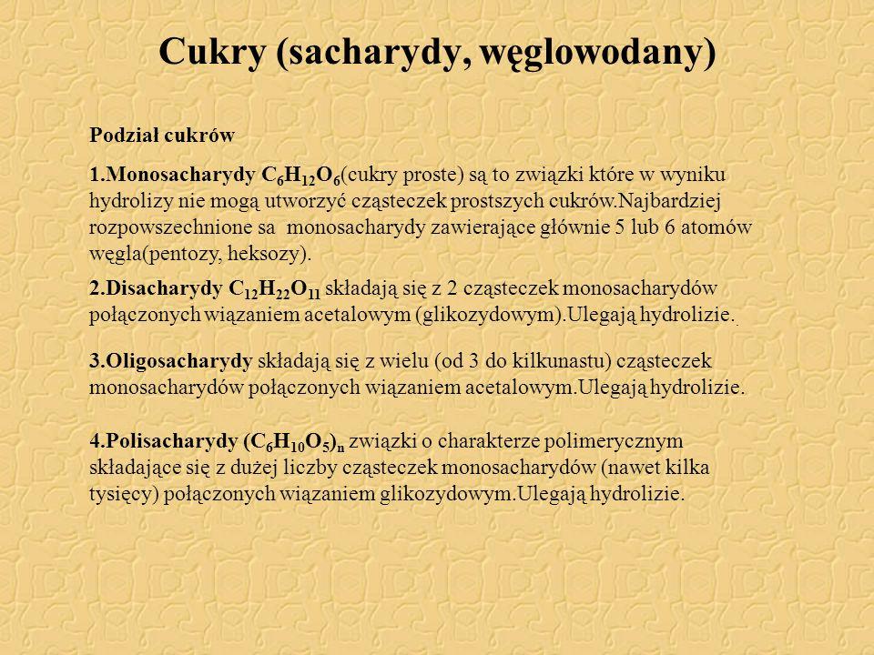 Cukry (sacharydy, węglowodany)